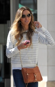 Giuliana Rancic and husband Bill Rancic hit the shops in Santa Monica, CA